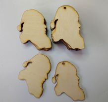 Wooden BIRCH PLY SANTA SHAPES Craft Blank Christmas Plaque 10 PACK 3mm Thick